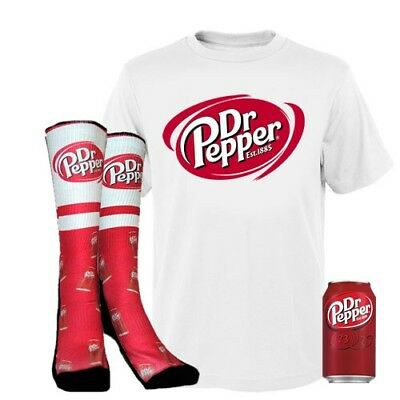 Dr Pepper Gift Box Includes Socks T Shirt And A Can Of Dr Pepper