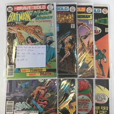 DC Comics the Brave and the Bold #131-134,136-139 Run Lot Set of 8 F/VF