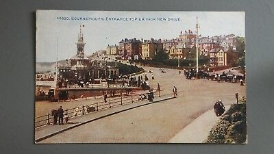 R&L Postcard: Photochrom, Bournemouth Entrance to Pier from New Drive Used