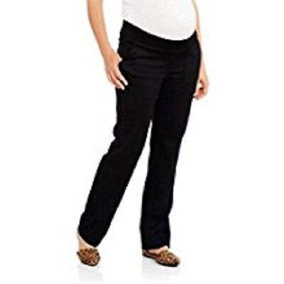 Planet Motherhood Woven Maternity Pants Button-Front Curved Pockets Black 2X NWT