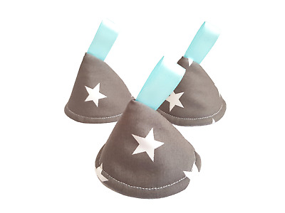 Grey & White Stars. Pee Pee TeePee x3  Wee Wee. Baby Shower, New Born Boy Gift