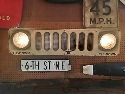 U.s. Military Hmmwv (Humvee) Illuminated Grill / Nose / Front - Army Usmc