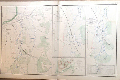CIVIL WAR LARGE MAP SIEGE BATTLE PETERSBURG OFFICIAL RECORDS Army of the Potomac