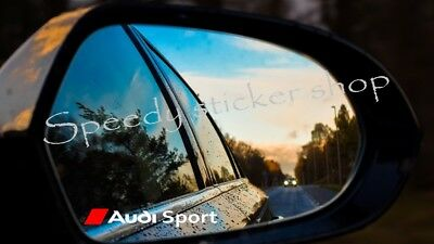 AUDI SPORT TT A1 A3 A4 A5 A6 MIRROR DECALS STICKERS GRAPHICS x 3 7CM X 0.9CM