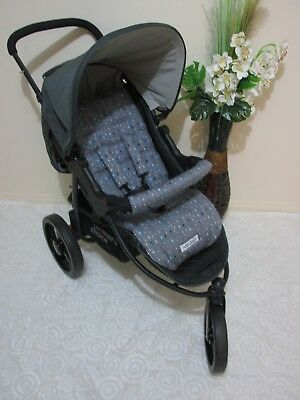 Handmade pram liner set-Metallic arrows,grey-100% cotton*Funky babyz