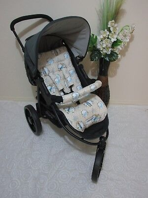 Handmade pram liner set-Peter rabbit-100% cotton,universal*Funky babyz