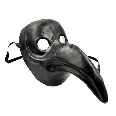 Black Adults Authentic Cult Plague Doctor Steampunk Halloween Face Mask