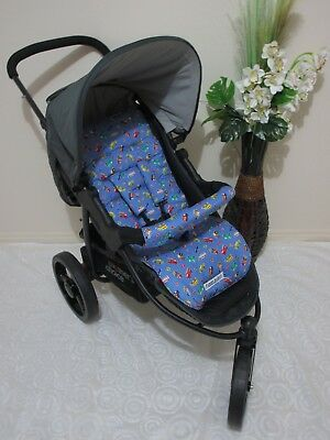 Handmade pram liner set-Car & trucks-100% cotton,universal*Funky babyz,SALE*