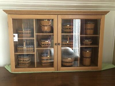 Longaberger Collector's Club Cabinet with Baskets