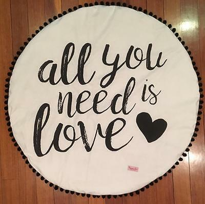 unisex girl boy baby playtime mat blanket monochrome all you need is love