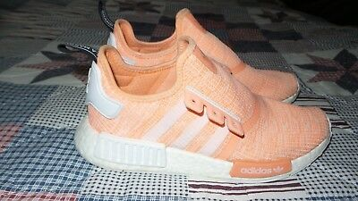 ac4e3bf26 ADIDAS NMD R1 Sun Glow Bright Pink Coral BY3034 YEEZY BOOST Womens Size 8.5  NICE