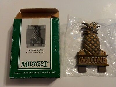 Midwest of Cannon Falls Interchangable Doorknocker Topper Pineapple Welcome