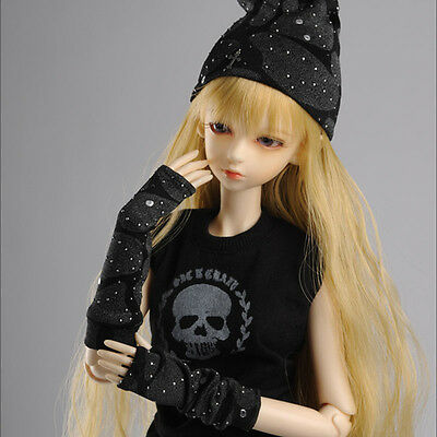 "Dollmore  1//3 BJD 22/"" doll clothes  SD SIZE Solid Black Pocket Stra T"