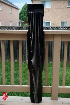 Standard Chinese Aged Fir Guqin 7-stringed Zither Instrument -- 標準古琴(老杉木/連珠)