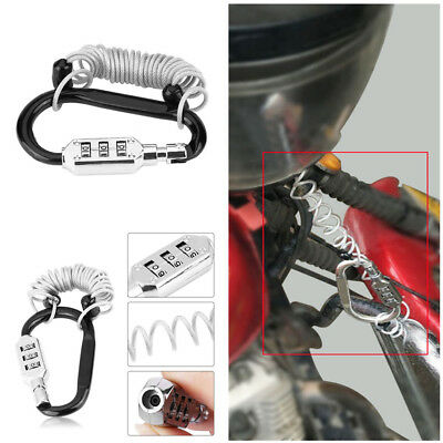 Anti Theft Motorcycle Helmet Lock W/Resettable Code PIN Spring Combination Lock