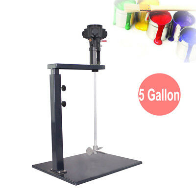 5Gallon Pneumatic Paint Mixer Machine Ink Coating Mixing Tool With Stand & Shaft