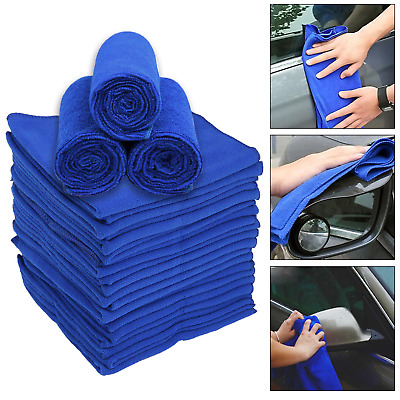 5x Microfibre Cleaning Cloth Microfiber Dish Car Drying Gym Towel Glass 40x40cm
