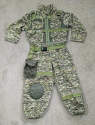 Teetot & Co Full Body Special Forces Camo Suit Kid's size 5/6 Unisex.