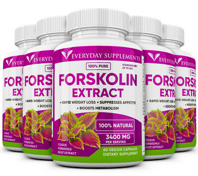 5 x Forskolin Maximum Strength 100% Pure 3200mg Rapid Results! Forskolin Extract
