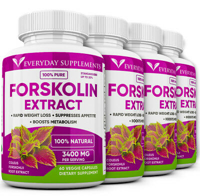 4 x Forskolin Maximum Strength 100% Pure 3200mg Rapid Results! Forskolin Extract