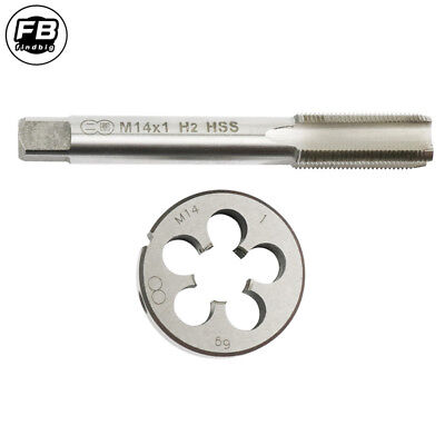 1pc HSS Machine M11 X 1.0mm Plug Tap and 1pc M11 X 1mm Die Threading Tool