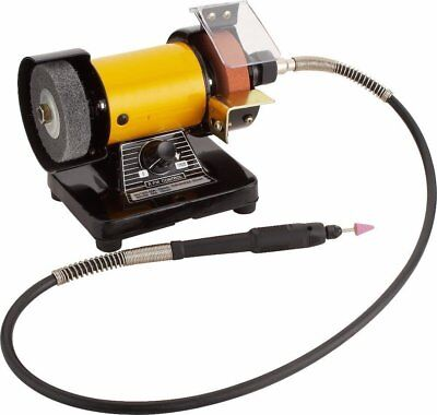 New Mini Bench Grinder Polisher with Flexible Shaft Tool Rest and Safety Guard