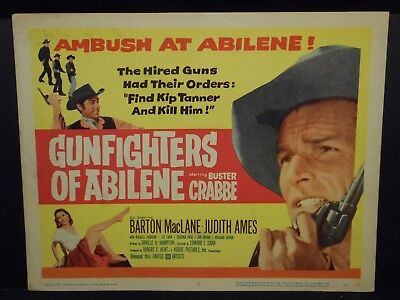 Buster Crabbe Gunfighters of Abilene 1959 Title Lobby Card VF Judith Ames