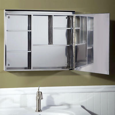 Cascara Stainless Steel Medicine Cabinet With Mirror Polished