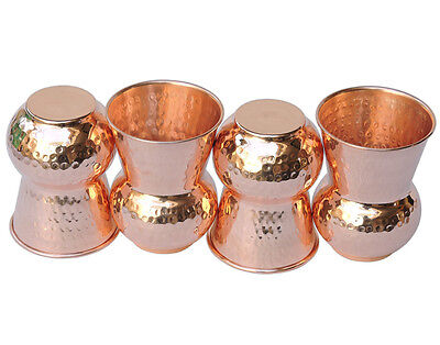 10 Pcs Hammered Pure Copper Indian Handmade Glass/Cup Drinking Water83