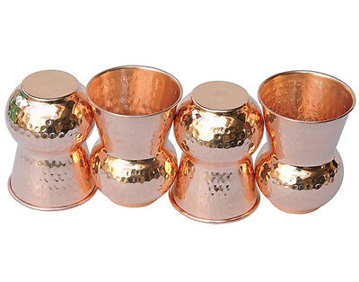 10 Pcs Hammered Pure Copper Indian Handmade Glass/Cup Drinking Waters7