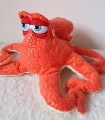 "Disney Store Exclusive Finding Dory Hank Octopus Orange Plush 9"" Height"