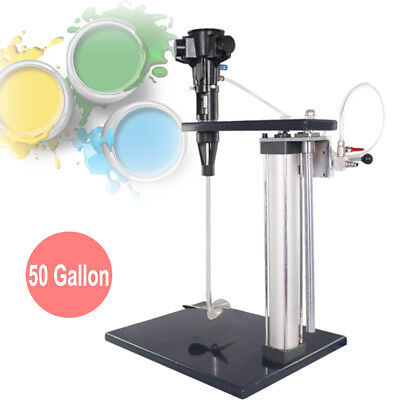 50 Gallon Automatic Pneumatic Mixer With Stand Paint Coating Mixing Tool
