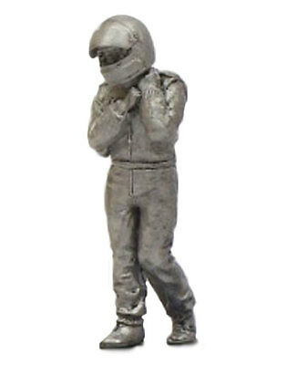 Unpainted Metal Figurine 1//43 Scale Denizen Race Driver /'Seated/' Early 1960s