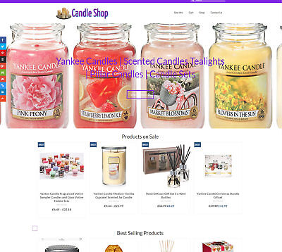 Stocked/Automated CANDLES business: Upto £1500 per sale! FREE Domain/Hosting/SSL