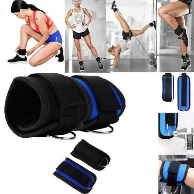 Ankle Strap Leg Gym Training Cable Attachment Weight Lifting D Ring Buckle GL