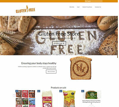 Stocked/Automated GLUTEN FREE business Upto £34 per sale FREE Domain/Hosting/SSL