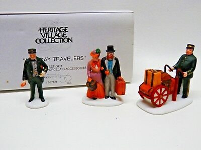 Department 56 Heritage Village Collection, HOLIDAY TRAVELERS, Set of 3, 5571-9