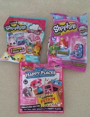 3 x novelty Shopkins promotional toys    NEW AND SEALED