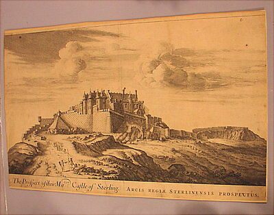 Alte Graphik The Prospect of their Maties. Castle of Sterling Scotland