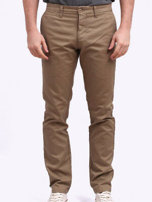 6f920e6c CARHARTT MENS LAMAR Sid Pant Chino Trousers in Leather Rinsed ...
