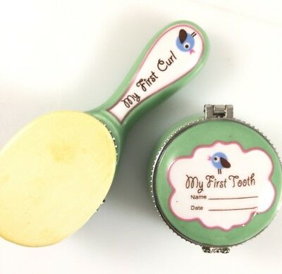 Avon Baby's First Tooth, Baby's My First Curl Hair Cut Trinket Boxes