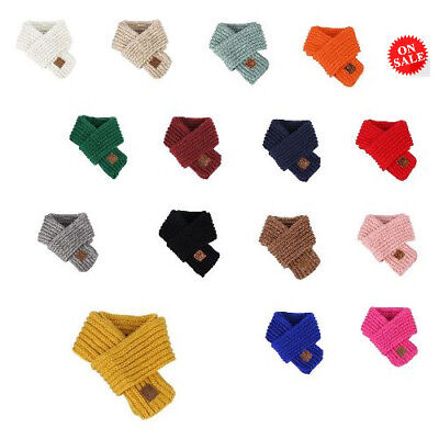 Winter Scarfs For Kids Knitting Autumn Warm Neck Warmer Outfit For Baby Children