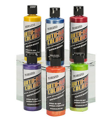 Auto Air Colors Airbrush Paints - 6 x 120ml 4966-00 Pearl Colors Essential Set