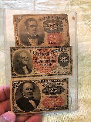 Fractional Bank Notes Collection old paper money currency United States