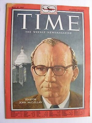 TIME MAGAZINE May 27 1957 John McClellan Pablo Picasso Kingsley Amis Lucky Jim