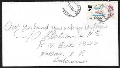 (111cents) Bahamas 1967 Cover Canc. BANNERMAN TOWN