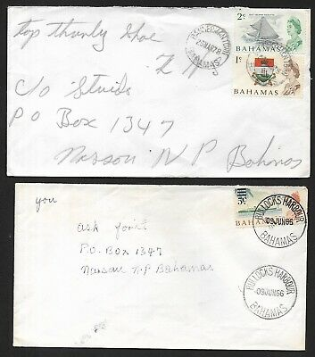 (111cents) Bahamas 4 Differents Postmark Cover