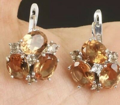 Antique Vintage Changing Color Solid 925 Silver Earrings (10Gram).