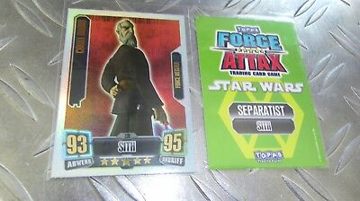 COUNT DOOKU - 238 - Force Meister - Clone Wars Serie 2 - Star Wars Force Attax