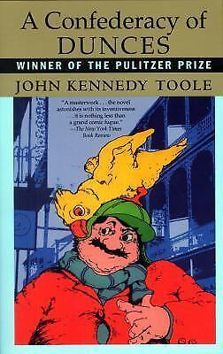 A CONFEDERACY OF DUNCES by John Kennedy Toole a classic paperback book FREE SHIP